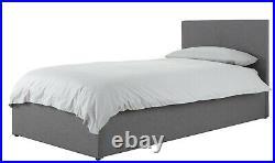 3ft End Lift Ottoman Single Storage Beds Crush Velvet Fabric PU Leather