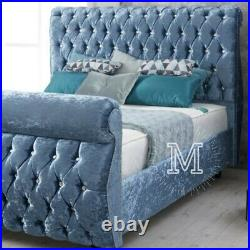 5ft king size Swan chesterfield storage bed in slats or divan storage