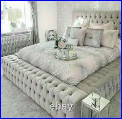 Ambassador Bed, with ottoman storage (option) All fabrics & colours available