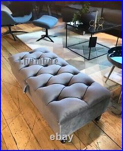 BRAND NEW! Ottoman storage footstool box velvet upholstered vanity bench