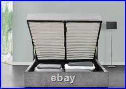 Bed Modern Straight Panel Plush Velvet Single, Double, King, Super Kingsize Bed