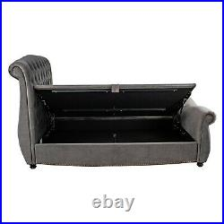 Belgravia Ottoman Bed Frame Side Lift Up Storage Double King Size NCF Living