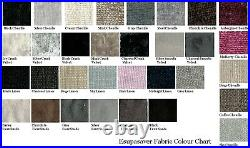 Berlin Gas Lift Ottoman Storage Bed Crushed Velvet, Chenille, & Linen Fabrics