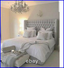 Bespoke Duke Chesterfield Wingback Bed Upholstered Handmade Plush Crush Velvet