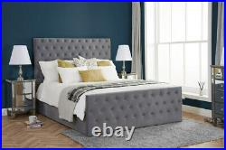 Birlea Marquis Grey Fabric Lift Up Ottoman Storage Bed 4ft6 Double, 5ft & 6ft