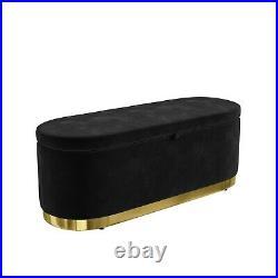 Black Velvet 3 Seater Sofa with Matching Storage Footstool Monroe