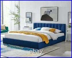 Bravich Modern Velvet Plush Ottoman Storage Bed Frame Double/ King/ Super King