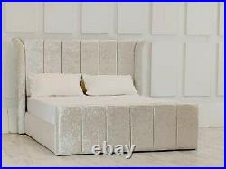 Catania Gas Lift Ottoman Wing Storage Bed Esupasaver Quality Beds Made in UK