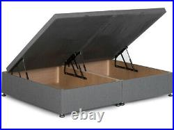 Chesterfield Ottoman Storage Gas Lift Divan Bed Base with Winged Headboard