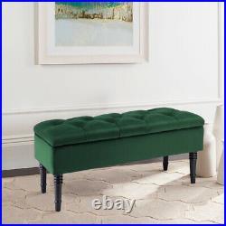 Chesterfield Storage Bench Fabric Upholstered Ottoman Stool Hallway Window Seat