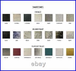 Chesterfield Velvet Storage Drawers Divan Bed Headboard & Pocket Sprung Mattress