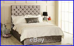 Christina Gas Lift Ottoman Storage Bed Upholstered Crush Velvet Esupasaver SALE