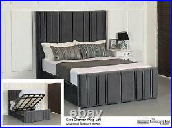 Cora Gas Lift Ottoman Wing Storage Bed Esupasaver Quality Beds Made in UK