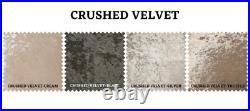 Crushed Velvet Divan Bed Base Drawer Storage- Small Double King Hadboard