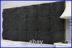 Cubes End or Side Gas Lift Upholstered Ottoman Storage Bed Frame with Headboard