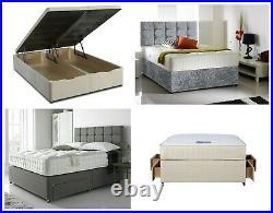 Custom Built Ottoman Gas Lift Divan Drawers Storage Bed Base With Headboard