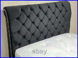 DOUBLE 4.6FT Swan Storage Ottoman Sleigh Bed with HUGE STORAGE EXCLUSIVE