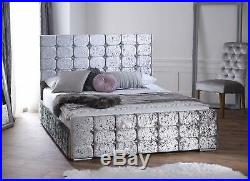Diana Upholstered Fabric Bed Frame storage 3' Single 4'6 Double 5' King size New