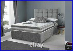 Divan Bed On Sale Comes With Storage And Free Cube Design Headboard Brand New