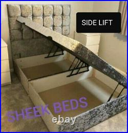 Divan Ottoman Gas Lift Storage Bed with Headboard