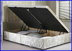 Divan Ottoman Side Lift Storage Bed Single 4'6 Double 5ft King Size AMAZING