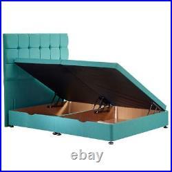 Divan ottoman storage bed with 54 headboard & orthopedic memory foam mattress