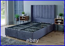Double 4.6ft Divan Ottoman Storage Bed with Floor Standing Headboard