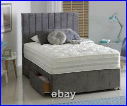 Double Divan Bed Drawer Storage- Small Double King Headboard 3ft 4ft6 5ft