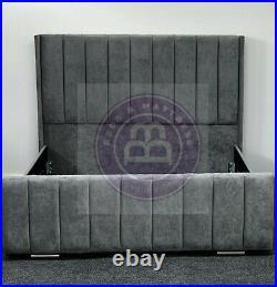 Edgeback Bed + Slats Gaslift Ottoman Storage + Mattress Double King Bespoke Sale