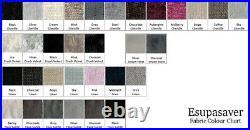 Elissa Gas Lift Ottoman Storage Bed Crush Velvet Fabric Made in UK Esupasaver
