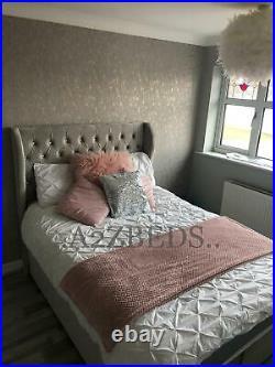 Footend Opening Ottoman Divan Bed, Winged Headboard -sale! Price Crash
