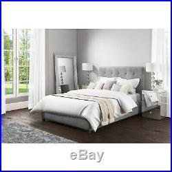Grey Velvet King Size Ottoman Storage Bed Safina range