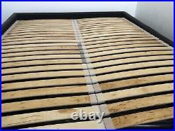 Grey Velvet Studio Ottoman Storage Loft Bed, King Size