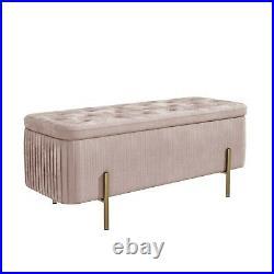Harriet Pleated Velvet Storage Box in Baby Pink BUN/HRT002/76920