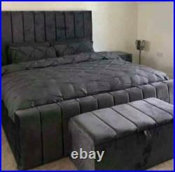 Heritage Plush Velvet Panel Storage Bed, Ottoman Gas Lift Bed! Best Seller