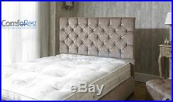IBEX CRUSHED VELVET Upholstered storage Bed frame, MADE IN UK