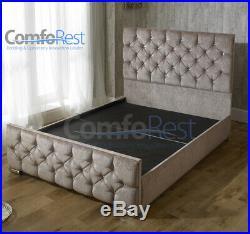 IBEX Chenille fabric / Velvet Velvet Upholstered storage Bed frame, MADE IN UK