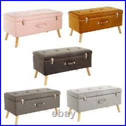 James Ottoman Storage Box Pouffe Seat Stool Footstool Storage Bench Upholstered