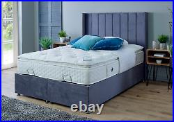 KING SIZE 5ft Divan Ottoman Storage Bed with Headboard and COLOURS OPTIONS