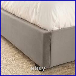 Kensington Velvet Graphite Grey Ottoman Storage King Size Bed 5ft Upholstered