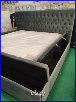 King size storage bed frame