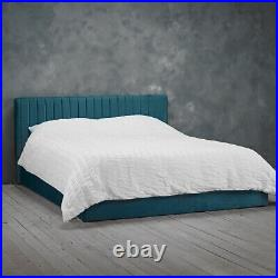 LPD Berlin Teal Velvet Ottoman Storage Bed Contemporary Style 4ft Small Double