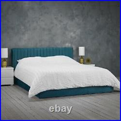 LPD Berlin Teal Velvet Ottoman Storage Bed Contemporary Style 5ft Kingsize