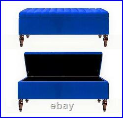 Large Ottoman Storage Box Upholstered Footstool, Bench Coffee Table, End Table
