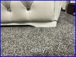 Large Plush Soft / Velvet fully upholstered storage Box Ottoman