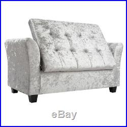 Large Upholstered Ottoman Window Seat Diamante Storage Box Footstool Bench Chair