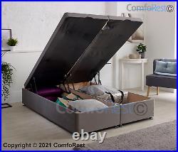 Lift Storage Ottoman Divan Bed + 54 TALL HEADBOARD OPTION MADE IN UK