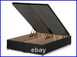 Luxurious CRUSH VELVET Lift Up Divan Storage Ottoman Divan Bed Base + Headboard