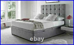 Luxurious Soft Velvet Lift Up Divan Storage Ottoman Divan Bed Base + Headboard