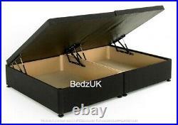 Luxurious Soft Velvet Lift Up Storage Ottoman Divan Bed Base Headboard Mattress